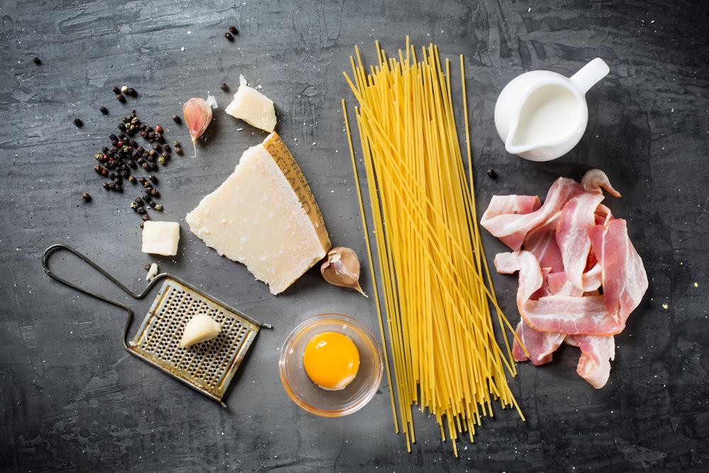ingredientes auténtica pasta carbonara